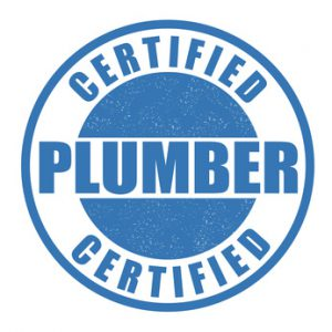 Certified plumber stamp