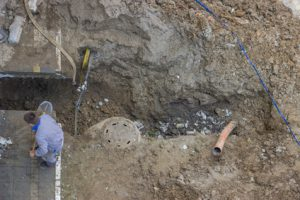 Repair of clogged septic and sewer piping 4