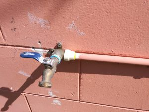 outdoor plastic pipe repair